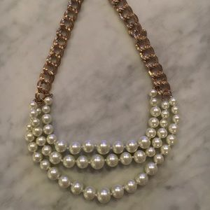 Multi- Strand Pearl Statement Necklace
